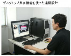 デスクトップ共有による遠隔設計